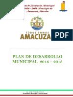 Pmd Amacuzac 2016-2018 Propuesta