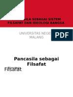 Pancasila Sebagai Sistem Filsafat Dan Ideologi Bangsa