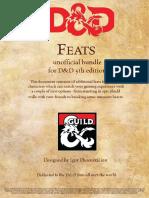 D&D5e - 18 Extra Feats (5e)