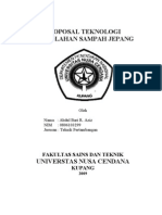 Proposal Teknologi Pengolahan Sampah Jepang