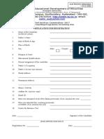 Civils Application Form