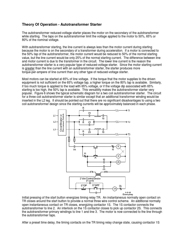 Theory of Operation - Autotransformer Starter | Mechanical ... on transformer circuit diagram, 3 phase autotransformer diagram, transformer taps diagram, auto transformers basics, step down transformer diagram, transformer schematic diagram, zig zag transformer diagram, auto transformer power diagram,