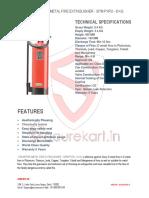 CEASEFIRE METAL FIRE EXTINGUISHER - SPM PYRO - 6 KG