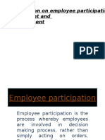 Employee Participation n Empowerment