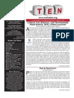 TEN Newsletter Summer 2010