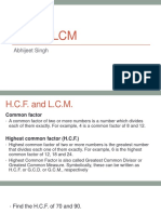 HCF LCM