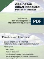 Dasar-Dasar Penelusuran Informasi