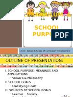 Curriculum and School Purpose