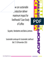 How can sustainable production deliver maximum impact for livelihoods? Case Study of Coffee
