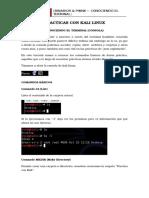 Práctica I - Conociendo La Terminal de Kali Linux