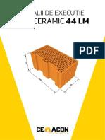 Detalii Executie Caramida Evoceramic 44lm