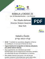 Kabala y Exodo 25