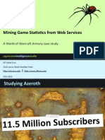 Mining Game Statistics from Web Services