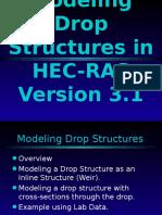 Modeling Drop Structures in HEC-RAS