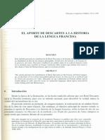 Marcos Víquez Ruiz - El aporte de Descartes a la historia de la lengua francesa.pdf