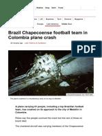 Brazil Chapecoense Football Team in Colombia Plane Crash - BBC News