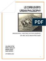 Philosophy Sessional - Urban (Le Corbusier)