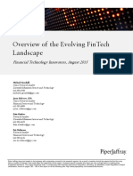 PiperJaffrayCompanies OverviewOfTheEvolvingFinTechLandscape Aug 23 2015
