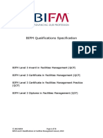 BIFM Level 3 Qualifications Specification
