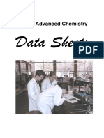 Salters Advanced Chemistry Data Sheets