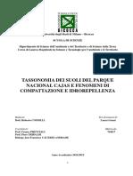 TASSONOMIA DEI SUOLI DEL PARQUE NACIONAL CAJAS E FENOMENI DI COMPATTAZIONE E IDROREPELLENZA - Laura Grassi
