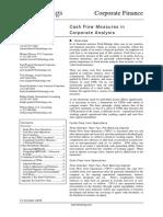 Cash Flow Measures in Corporate Finance