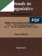 (Trends in Linguistics. Documentation 1) Jaan Puhvel-Hittite Etymological Dictionary, Volume 1_ Words Beginning With A_ Volume 2_ Words Beginning With E and I. 1 & 2-De Gruyter (1984)