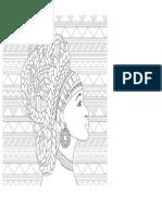 Desenho de Uma Mulher Africa