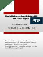 Menial hubungan fungsi kognitif dan BMI