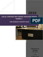 Paper 1 the Nigerian Content Plan