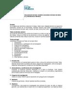 Formato Documento de Protocolo de Analisis Secundario de Base de Datos