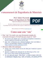 Ciencia e Engenharia de Materiais