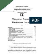 Obligaciones Legales Del Empleador en Venezuela