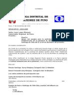 Carta Sudamericano Ajedrez