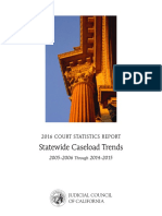2016 Court Statistics Report - Statewide Caseload Trends for California Courts - Judicial Council of CA