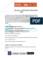Laplace Transforms - GATE Study Material in PDF