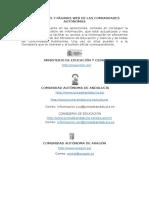 Direcciones y Páginas Web de Las Comunidades Autónomas