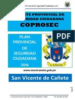 Plan Provincial Canete 2016
