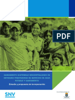 Saneamiento sostenible descentralizado en entidades prestadoras de servicios de agua potable y saneamiento