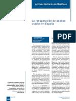 La Recuperación de Aceites Usados en España