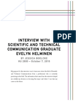 intro to sci tech - imrd interview report