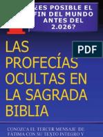 Religion - Libros - Profecías Ocultas En La Sagrada Biblia