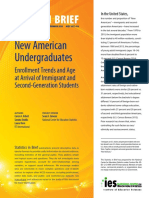 New American Undergraduates Enrollment Trends and Age at Arrival of Immigrant and Second-Generation Students