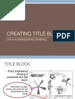 Creating Title Block