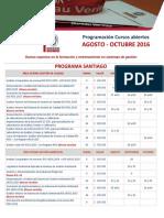 Programación Oficial Cursos Abiertos Bureau Veritas Santiago AGOSTO a OCTUBRE 2016_rev3