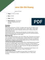 china emperor qin shi huang