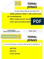 Concurso Biblico JONAS