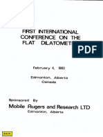 First International Conference on the Flat Dilatometer