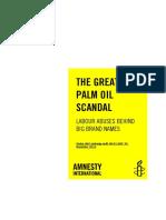 Informe de Amnistía Internacional 'El gran escándalo del aceite de palma'