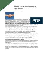 Carta Europeana a Drepturilor Pacientilor Cu Cancer a Fost Lansata